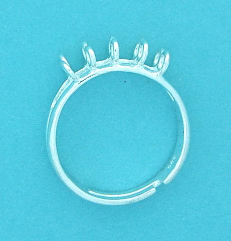 Ring Sterling Silver 10 Loops (Adjustable)