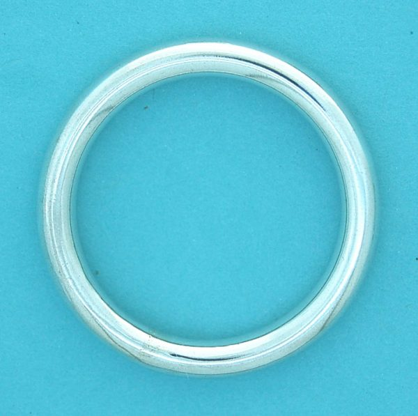 Hollow Ring Sterling Silver 5x40mm