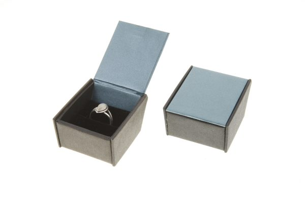 Ring Box | Teal Green and Black