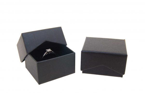 Ring Box | Lift Off Lid | Black