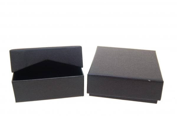 Pendant/Earring Box | Lift Off Lid | Black