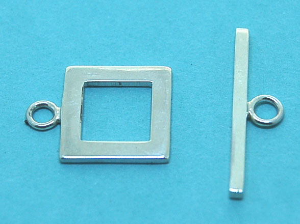SquareToggle Clasp (12mm square and 21mm stick) | Sterling Silver