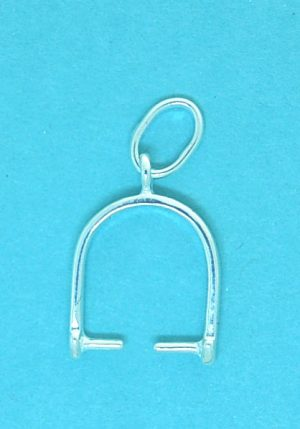 Pendant Bail Sterling Silver 12mm with 7x9mm