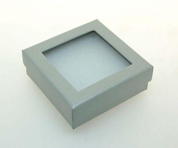 Pendant/Earring Window Box   Silver
