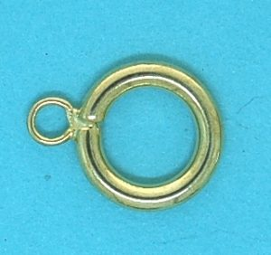Round Toggle Clasp | Gilt Base Metal