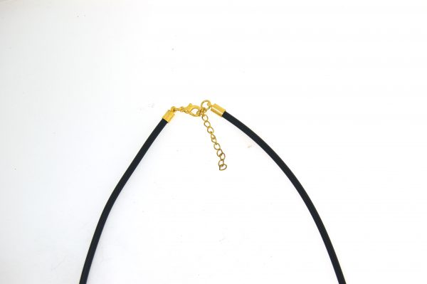 Neoprene Choker 2.5mm with Gold Plate Parrot Clasp