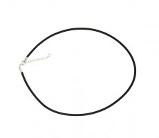 Leather Chocker with Silver Plate Parrot Clasp (2.5mm)