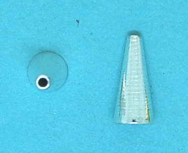 Fluted Beading End Cone Shape | silver base metal