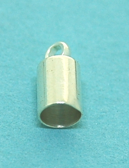Necklace Ends Caps (3.5mm) | Silver Base Metal