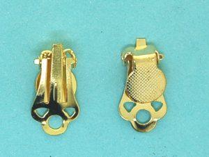 Earclip with pad | gilt base metal