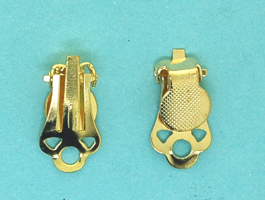 Earclip with pad | gilt base metal