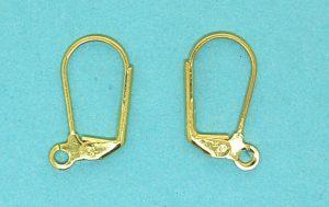 Earring hook | gilt base metal