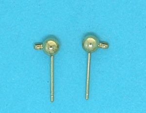 Earstud ball hook | gilt base metal