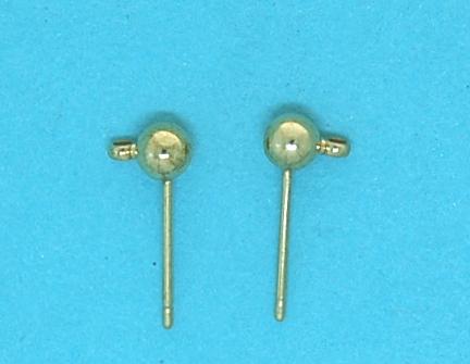 Earstud ball hook | gilt base metal