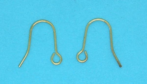Earwire hook with ball and spring | Gold Plate