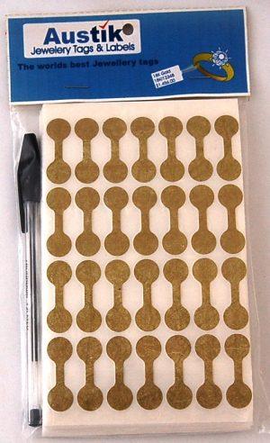 Austik Dumbell Sticky Labels (Gold)