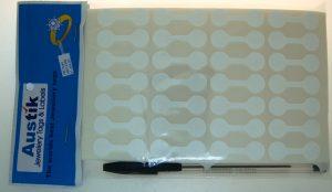 Austik Dumbell Sticky Labels (White)