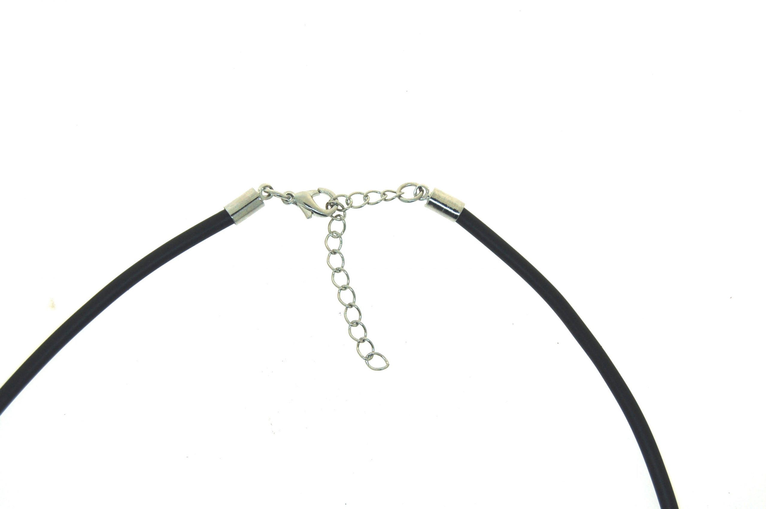 Neoprene Choker 3.0mm with Silver Plate Parrot Clasp