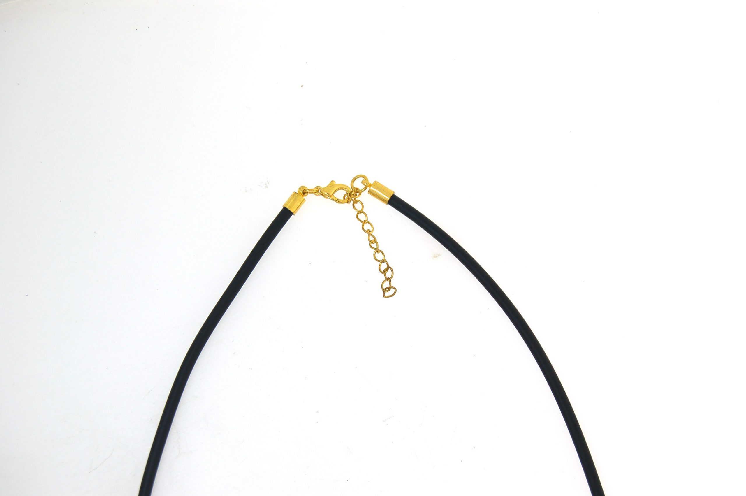Leather Choker 2.5mm with Gold Plate Parrot Clasp