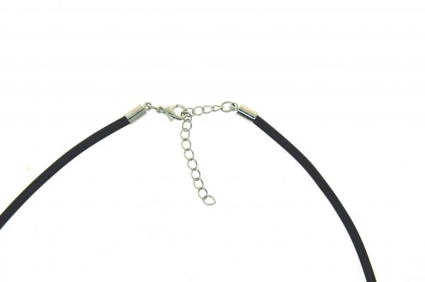 Leather Choker 3.0mm with Silver Plate Parrot Clasp