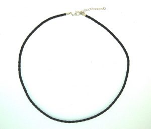 Bolar Leather Chocker 3.0mm with Silver Plate Parrot Clasp
