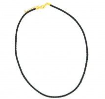 Bolar Leather Chocker 4.0mm with Gold Plate Parrot Clasp