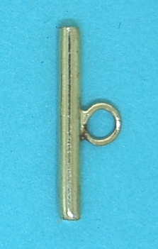 Bar for Toggle Clasp in Gilt