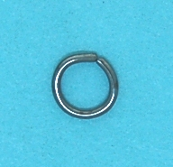 Jump Ring Black Base Metal (6.0mm)