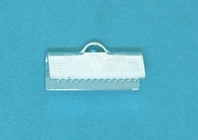 Crimp End Fold Over Silver Plate (15mm)