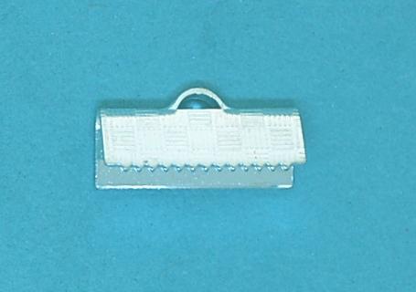 Crimp End Fold Over Silver Plate (15mm)