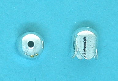 End Cap Silver Plate (6.0mm)