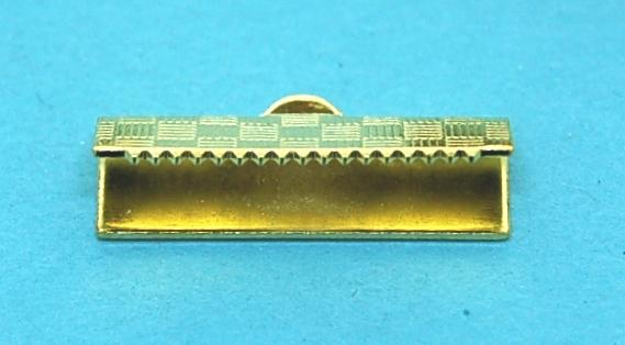 Crimp End Fold Over Gold Plate (20mm)