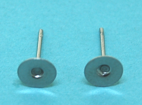 Earpost with Pad Nickel (6.0mm)