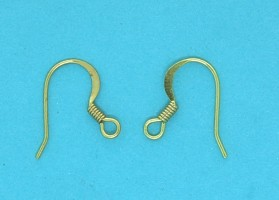 Gilt Earwire with Spring