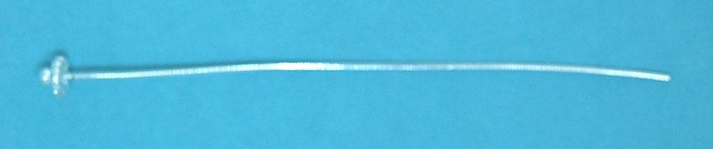 Fancy Head Pin | Silver Plate (75mm)