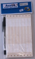 Austik Rectangle with Tail Sticky Labels (White)