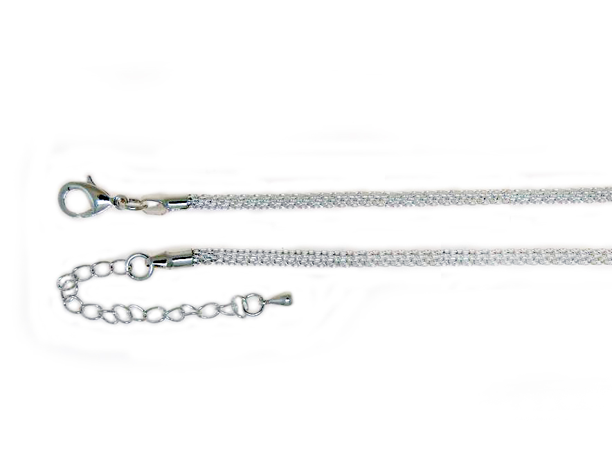 Knitted Chain Necklace | Silver Plate (2.5mm)